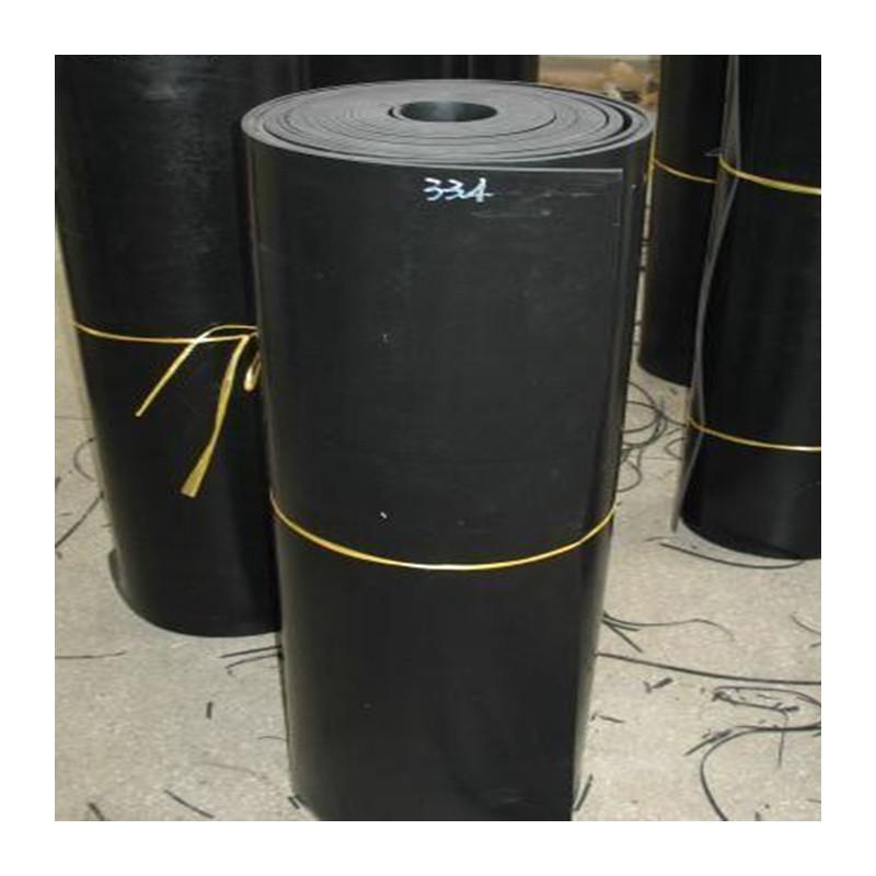 Rollo SBR 1M ancho - Plancha de goma, color negro