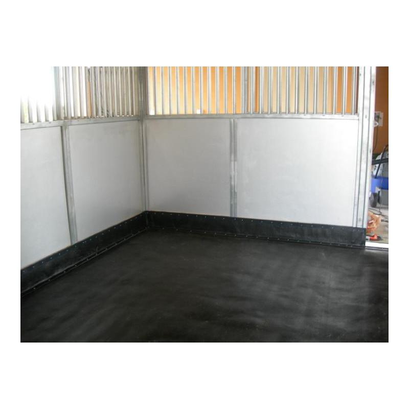Rollo SBR con TEJIDO 1,40M ancho - Plancha de goma, color negro