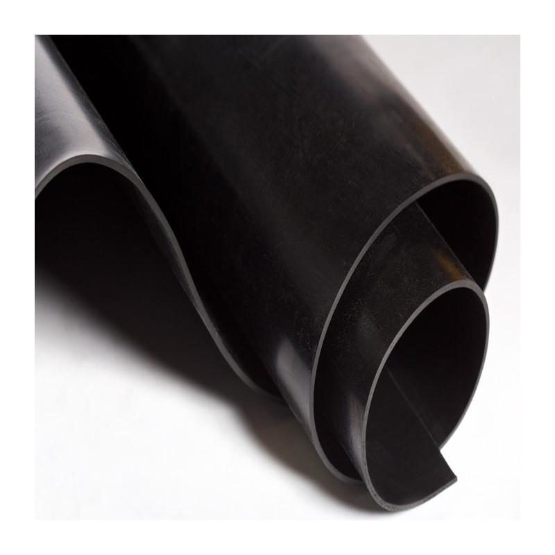 Metro lineal SBR con TEJIDO 1M ancho - Plancha de goma, color negro