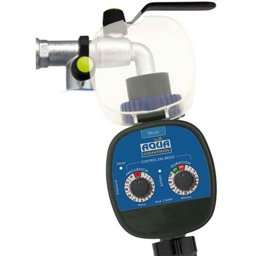 Programador de riego Aqua Control - Funcionamiento con pilas