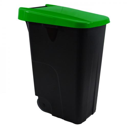 Contenedor 110 litros negro - Tapa de varios colores
